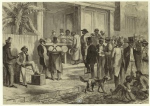 Freedmen voting in New Orleans in 1867
