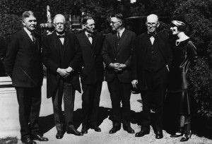William Boyce Thompson (3rd from right), his daughter, and Board of Directors at BTI opening in Yonkers.