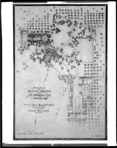 Ralph Cornell's original landscape plan for Rancho Joaquina
