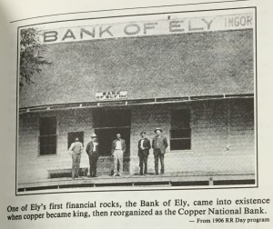 The Ely Bank was one of the original buildings constructed by Thompson and his partners